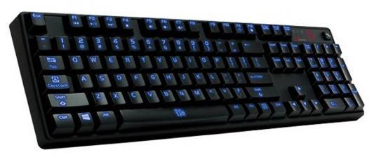 Клавиатура проводная Thermaltake Poseidon Z ILLUMINATED USB черный KB-PIZ-KLBLRU-01 клавиатура tt esports challenger illuminated black