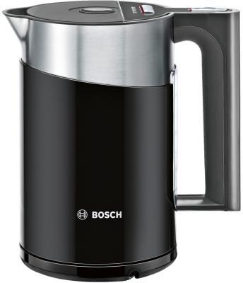 Чайник Bosch TWK861P3RU 2400 Вт чёрный 1.5 л металл/пластик чайник bosch twk7603 3000 вт чёрный 1 7 л пластик