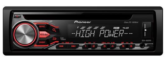 Автомагнитола Pioneer DEH-4800FD USB MP3 CD FM RDS 1DIN 4x100Вт пульт ДУ черный