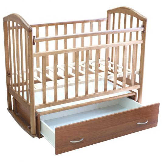 Кроватка с маятником и ящиком Антел Алита-4 (орех)