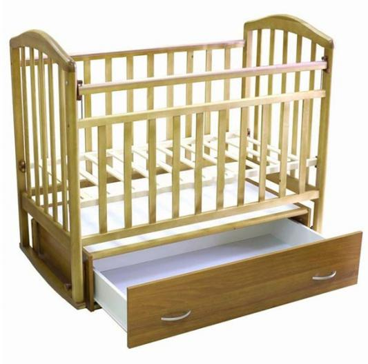 Кроватка с маятником и ящиком Антел Алита-4 (бук)