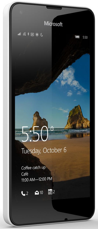 "Смартфон Microsoft Lumia 550 белый 4.7"" 8 Гб LTE Wi-Fi GPS"