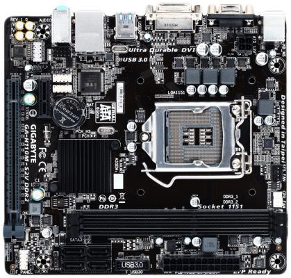 Мат. плата для ПК GigaByte GA-H110M-S2V DDR3 Socket 1151 H110 2xDDR3 1xPCI-E 16x 1xPCI-E 1x 4xSATAIII mATX Retail материнская плата gigabyte ga h81m s1 v2 2 socket 1150 h81 2xddr3 1xpci e 16x 2xpci e 1x 2xsata ii 2xsataiii matx retail