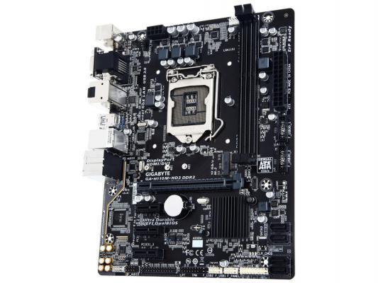 Мат. плата для ПК GigaByte GA-H110M-HD3 DDR3 Socket 1151 H110 2xDDR3 1xPCI-E 16x 3xPCI-E 1x 4xSATAIII mATX Retail