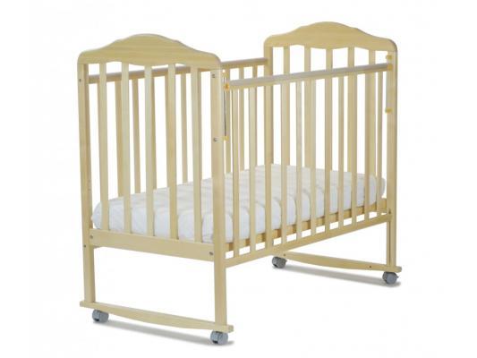 Кроватка-качалка СКВ Березка (бежевый/120119) кроватка скв березка 120119 бежевый