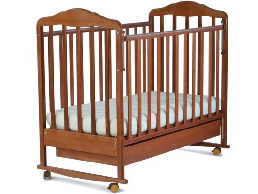 Кроватка-качалка СКВ Березка (бук/121116) кроватка качалка скв березка бежевый 121119