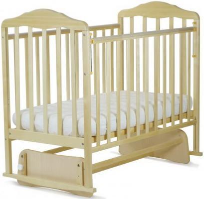 Кроватка с маятником СКВ Березка (береза/124005) кроватка скв березка 121116 бук