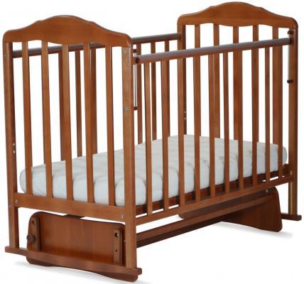 Кроватка с маятником СКВ Березка (орех/124007) кроватка скв березка 121115 береза