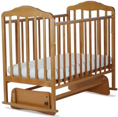 Кроватка с маятником СКВ Березка (бук/124006)
