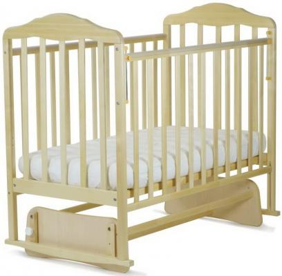 кроватка с маятником СКВ Березка (бежевый/124009)