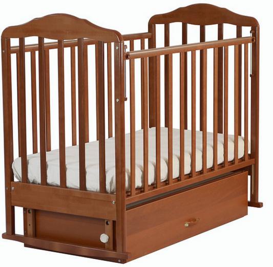 Кроватка-качалка с маятником СКВ Березка (орех/126007)