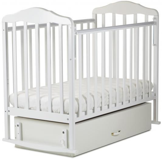 Кроватка с маятником СКВ Березка (белый/122001/2 коробки)