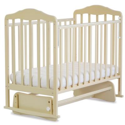 Кроватка с маятником СКВ Березка (бежевый/126009) кроватка качалка скв березка бежевый 121119
