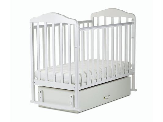 Кроватка с маятником СКВ Березка (белый/126001)