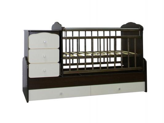 Кроватка-трансформер с маятником СКВ (венге-белый/930038-1)