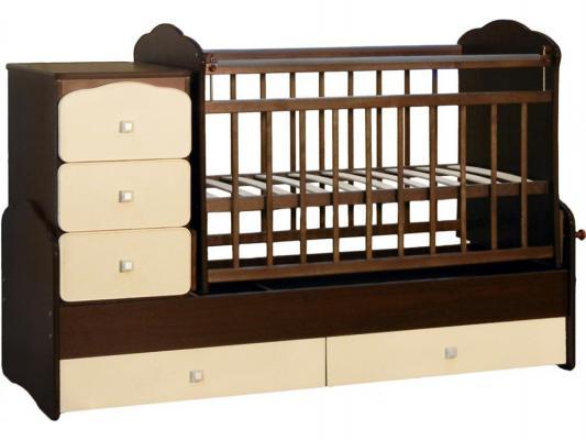 Кроватка-трансформер с маятником СКВ (венге-бежевый/930038-9)