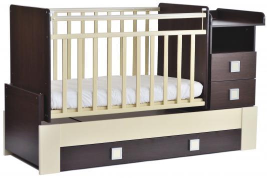 Кроватка с маятником СКВ-8 (венге-бежевый/ 830038-9)