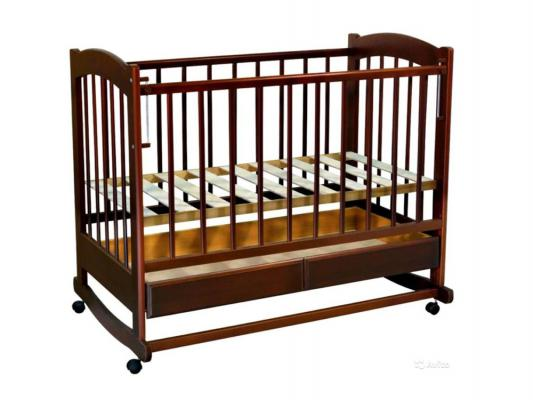 Кроватка-качалка Ведрус Радуга (вишня)