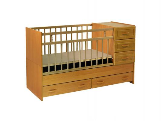 Кроватка-трансформер Ведрус Раиса (светлый)