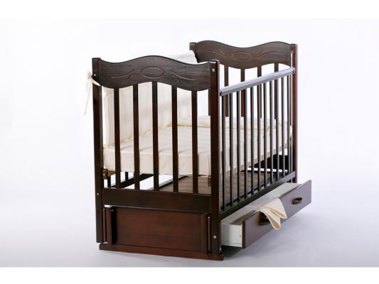 Кроватка с маятником Ведрус Милена (вишня)