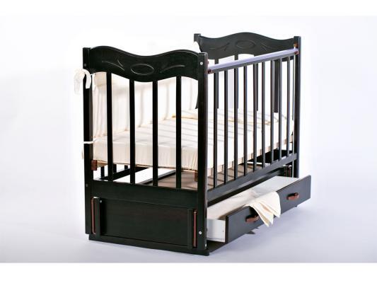 Кроватка с маятником Ведрус Милена (темный орех) детский комод ведрус мишка 3 темный