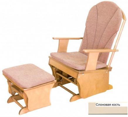 Кресло-качалка с подставкой для ног Красная Звезда С254 (слоновая кость)