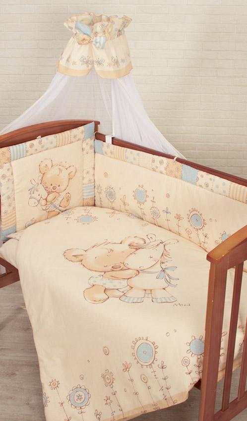 Комплект золотой гусь zoo bear в кроватку (7 предметов)