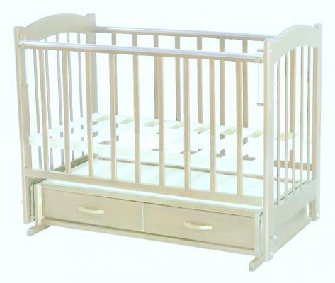 Кроватка с маятником Ведрус Радуга-4 (белая)