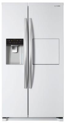 Холодильник Side by Side DAEWOO FRN-X22F5CW белый холодильник daewoo frn x22b5cw