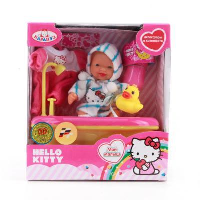 Купить Игровой набор Карапуз Hello Kitty в ванночке с аксессуарами 10 см U536-Н43012, КАРАПУЗ, пластик, Куклы Карапуз