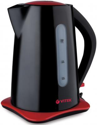 Чайник Vitek VT-1176 (BK) 2200 Вт чёрный 1.7 л пластик чайник vitek vt 7008 tr 2200 вт чёрный 1 7 л пластик стекло