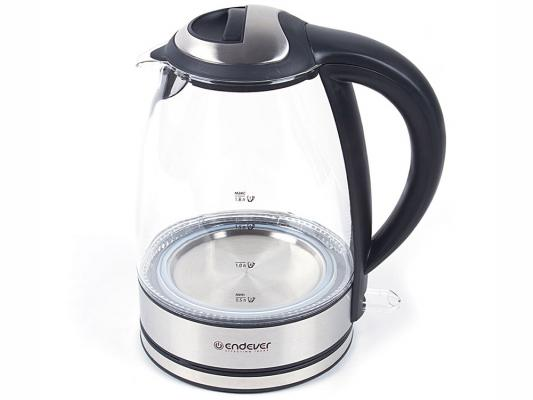 Чайник ENDEVER KR-316G 2400 Вт прозрачный 1.8 л металл/стекло endever kr 306g