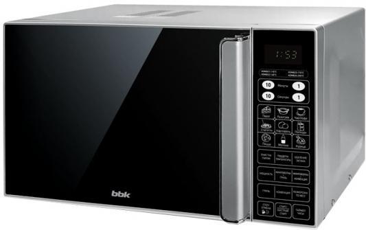 СВЧ BBK 23MWC-982S/SB-M 900 Вт чёрный серебристый микроволновая печь bbk 23mws 927m w 900 вт белый