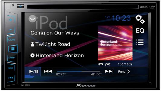 """Автомагнитола Pioneer AVH-180G 6.2"""" USB MP3 CD DVD FM RDS 2DIN 4x50Вт черный"""