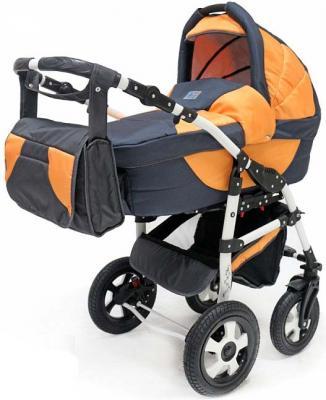 Коляска 2-в-1 Teddy BartPlast Serenade PCO (графит-оранжевый/11) коляска 2 в 1 teddy bartplast serenade pco синий голубой 01