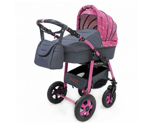 Коляска 2-в-1 Polmobil Danny (графит-розовый)
