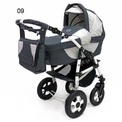 Коляска 3-в-1 Teddy BartPlast Serenade PCO-F (09/графит-серый) коляска 2 в 1 teddy bartplast serenade pco синий голубой 01