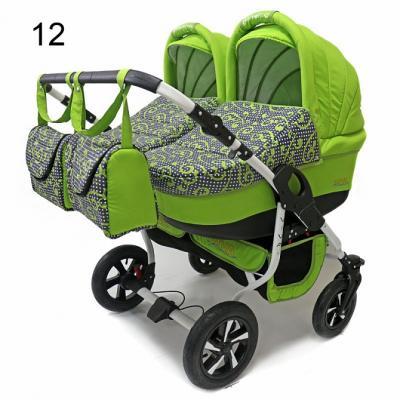 Коляска 2-в-1 для двоих детей Polmobil Viva (12/салатовый)