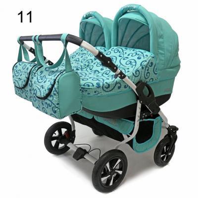 Коляска 2-в-1 для двоих детей Polmobil Viva (11/светло-бирюзовый)