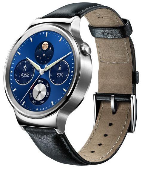 Смарт-часы Huawei Watch Classic Leather Mercury-G00 Stainless Steel серебристые 55020700 092116