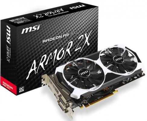 Видеокарта 2048Mb MSI R9 380 PCI-E GDDR5 256bit 2хDVI HDMI DP HDCP R9 380 2GD5T Retail