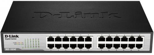 Коммутатор D-LINK DGS-1024C/A1A неуправляемый 24 порта 10/100/1000Base-T d link dgs 1024c