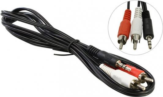Кабель соединительный 1.5м 5bites 3.5 Jack (M) - 2xRCA (M) стерео AC35J2R-015M кабель 3 5 мм jack 2xrca audioquest tower01mr