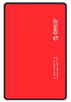 Внешний контейнер для HDD 2.5 SATA Orico 2588US3-RD USB3.0 красный внешний контейнер для hdd 2x3 5 sata orico 9528u3 usb3 0 серебристый