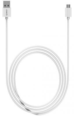 Кабель microUSB 1м Orico круглый ADC-10-WH кабель lightning 1м wiiix круглый cb120 u8 10b