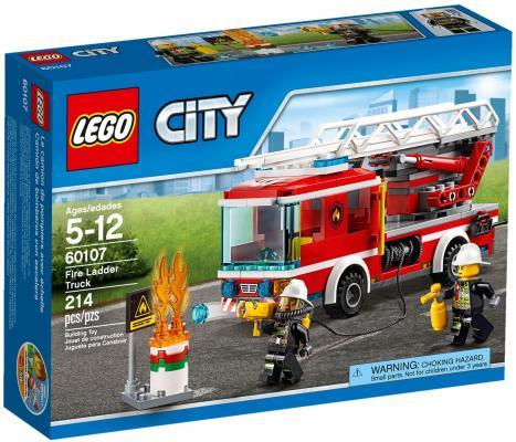 Конструктор LEGO City Пожарный автомобиль с лестницей 214 элементов 60107 конструктор lego city 60107 пожарный автомобиль с лестницей