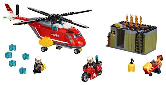 Конструктор LEGO City Пожарная команда быстрого реагирования 257 элементов 60108
