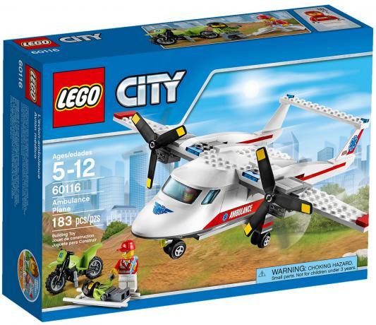 Конструктор Lego City Самолет скорой помощи 183 элемента 60116