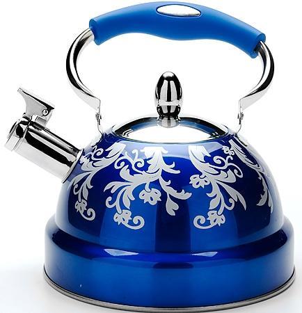 Чайник Mayer&Boch 24886-МВ синий рисунок 3.5 л нержавеющая сталь