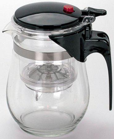 Чайник заварочный Mayer&Boch 4025-MB чёрный 0.5 л стекло